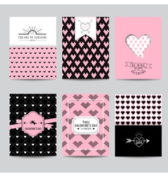 Set of love cards - valentines day invitation vector