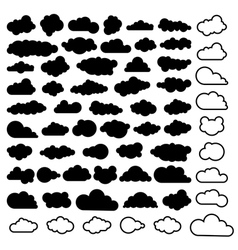 sky clouds vector image vector image