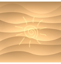Summer picture on a sea sand vector image