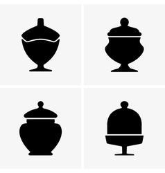 Sweet jars vector image vector image