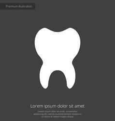Tooth premium icon white on dark background vector