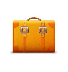 Travel suitcase emblem vector image