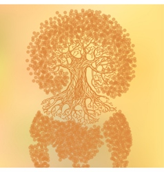 Tree with earth vector image