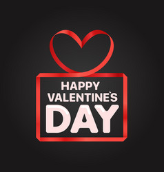 Valentines day greeting card banner with red vector