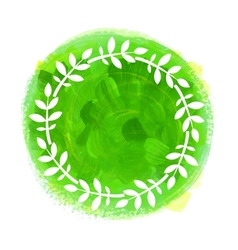 Watercolor green banner vector image vector image