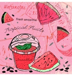 Watermelon smoothie 01 a vector