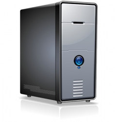 pc case vector image