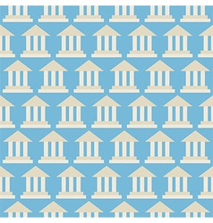 Flat seamless pattern government school bank vector