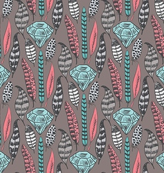 Doodle hand drawn seamless pattern vector