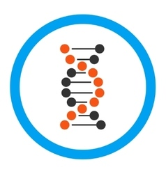 Dna spiral rounded icon vector