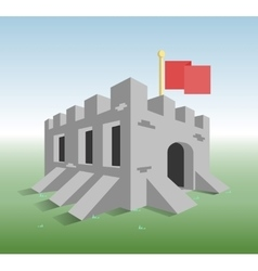 Little old fortress vector
