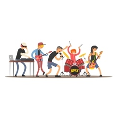 Musicians on a Concert vector image