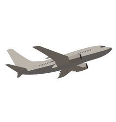 Transport airplane vector