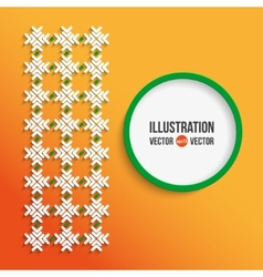 abstract red and white background vector image vector image