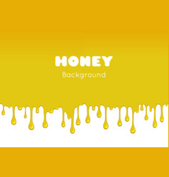 Background with flowing honey vector