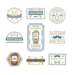 barber shop vintage isolated label set vector image vector image
