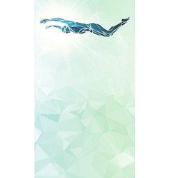 Butterfly swimmer color silhouette sport swimming vector
