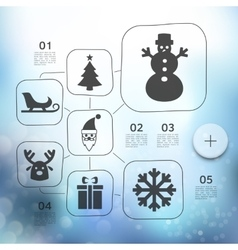 Christmas infographic with unfocused background vector