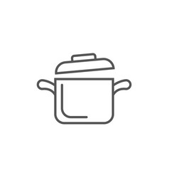 cooking saucepan isolated icon in linear style vector image vector image