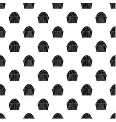cup cake pattern vector image