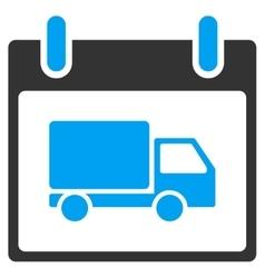 Delivery car calendar day toolbar icon vector