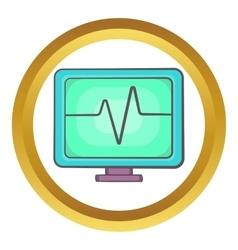 Electrocardiogram monitor icon vector
