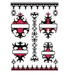 Emblem set in east style vector image