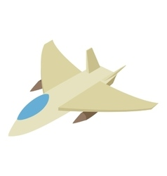Fighter jet isometric 3d icon vector