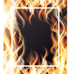 fire and white frame vector image