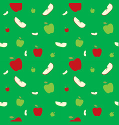 Fruits apples seamless patterns vector