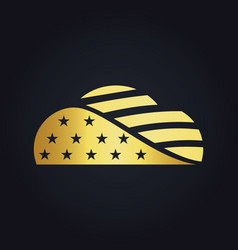 Gold america cloud media technology logo vector