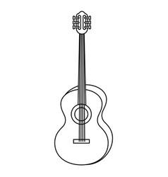 guitar instrument icon vector image
