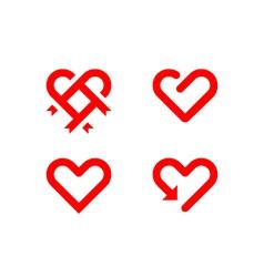 Heart line symbol vector