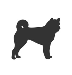 icon of dog isolated on white background vector image vector image