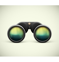 Isolated Binoculars vector image vector image