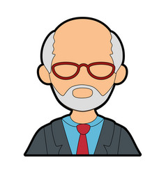 Isolated old man upperbody vector