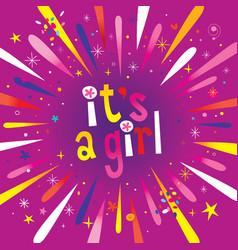 its a girl burst explosion vector image