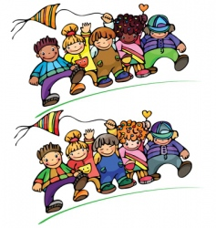 kids different races vector image vector image