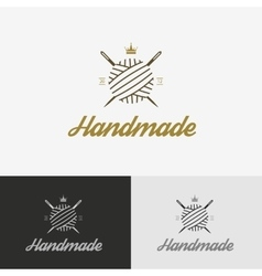 Logo sewing shop with needle vector image vector image