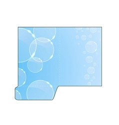 Modern crystal concept - folder cut-out vector