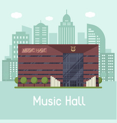 music city hall landscape vector image