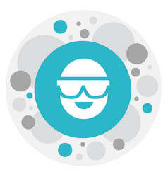 of air symbol on spectacles vector image