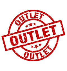 outlet round red grunge stamp vector image vector image