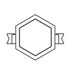 outlined label sticker emblem vector image