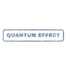 Quantum effect textile stamp vector
