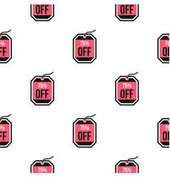 Sale tag 75 percent off pattern flat vector