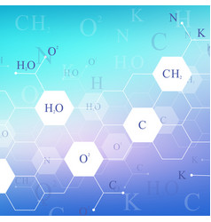Scientific hexagonal chemistry pattern structure vector