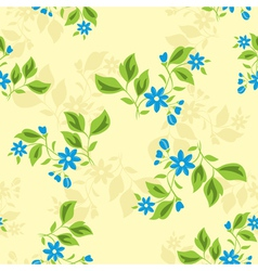 seamless floral texture with blue flowers vector image vector image