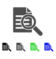 search document flat icon vector image vector image
