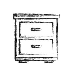 Side table furniture home sketch vector